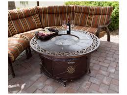 az patio heaters round cast aluminum decorative firepit in bronze