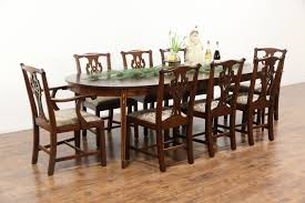 Mahogany Dining Room Table And 8 Chairs Sold Traditional Mahogany Dining Set Table 3 Leaves 8 Chairs