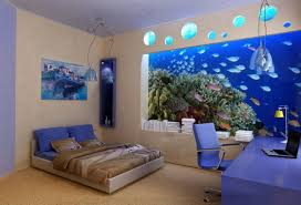 LovelyFishAquariumDesignIdeasBedroomAdmirableFuturistic - Creative ideas for bedroom walls