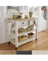 amazing deal on eleanor two tone rolling kitchen island with wine