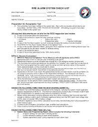 fire alarm document cabinet fire alarm checklist
