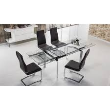 Clear Dining Room Table by American Eagle Tl 1134s C Steel Legs W Clear Glass Top Dining