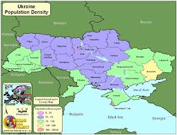 Population Density World Map by Ukraine Worldmap Org