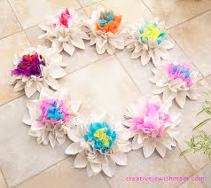 Making Of Flowers With Paper - newsprint u0026 crepe paper flower centerpieces creative jewish mom