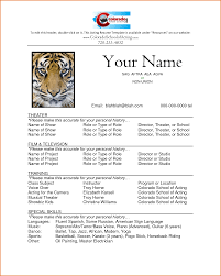 Child Actor Resume Child Actor Resume Free Resume Example And Writing Download