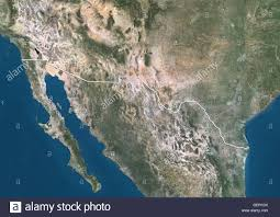 map usa mexico border satellite view of the us mexico border with country boundaries