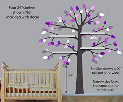 Purple Wall Decals For Nursery Purple Gray Wall Decals Shelf Tree Wall Decal