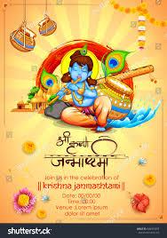 How To Decorate Janmashtami At Home by Illustration Lord Krishna Happy Janmashtami Festival Stock Vector