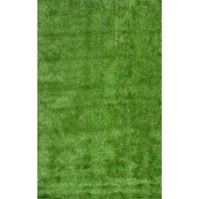 Outdoor Grass Rugs Nuloom Artificial Grass Green 8 Ft X 10 Ft Indoor Outdoor Area