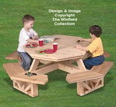 Octagonal Picnic Table Project by Picnic Table Wood Plans Kid U0027s Octagon Picnic Table Woodworking