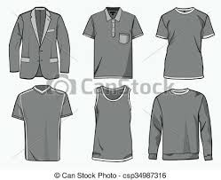 clothing templates vector clipart royalty free 22 651 clothing