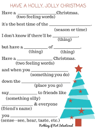 free christmas printables activity placemat u0026 fill in the blank