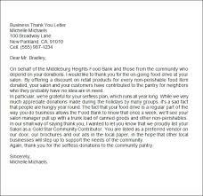 sle business thank you letter 6 documents in word