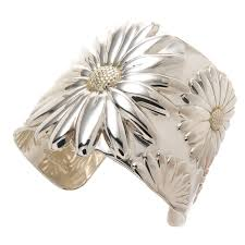 tiffany bracelet silver cuff images Tiffany and co large daisy cuff bracelet at 1stdibs jpeg