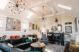 bar living room vintage mod living room with bar area 2014 hgtv