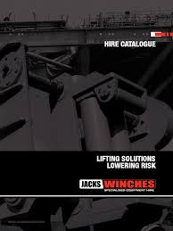 jacks winches 2014 hire catalogue diesel engine cable
