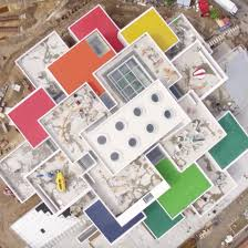 lego releases drone footage of big u0027s lego house nearing completion