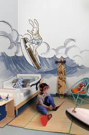 16 best bloom design kids images on pinterest home deco kids surfing bunny wall mural in blue perfect for a child s bedroom