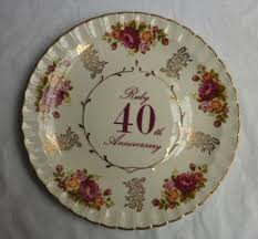 40th anniversary plate priory antiques avon ruby 40th anniversary floral design