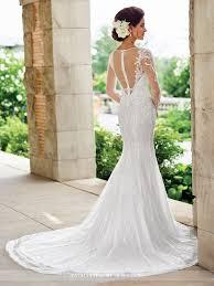 mon cheri wedding dresses sleeve fit flare wedding dress 117180 enchanting by mon cheri