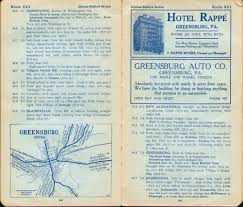 Routing Maps by Pennsylvania In Old Road Atlases 1911 1920
