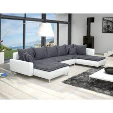 canape blanc et gris meublesline canapé d angle dante 6 places gris foncé et blanc gris