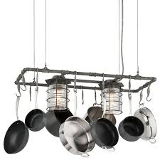 kitchen island pot rack lighting view the troy lighting f3798 brunswick 2 light kitchen island pot