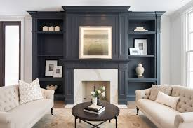 black built ins face to face sectionals transitional living room amy meier