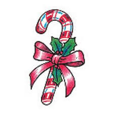 glitter candy cane temporary tattoo 2