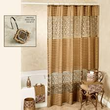 Chocolate Brown Shower Curtain Spindle Embroidered Medallion Shower Curtain