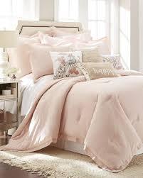 Blush Pink Comforter 3 Piece Blush Linen Blend Comforter Set Comforters Bedding Bed