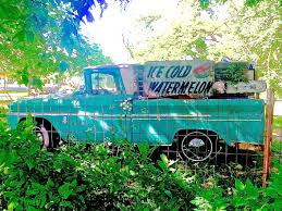 60s chevy watermelon truck in backyard in e austin atx car