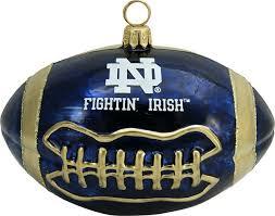 collegiate football of notre dame ornament