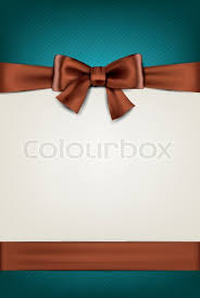 brown ribbon gift card with brown bow stock vector colourbox