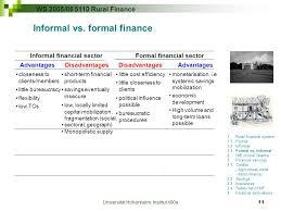 Formal Credit And Informal Credit universit磴t hohenheim institut 490a ppt