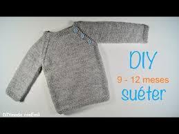Sueter Tejido A Dos Agujas Youtube | suéter o jersey de bebé tejido a dos agujas paso a paso youtube