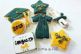 graduation cookies cookies cap gown diploma 1 dozen