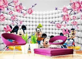 Mickey Mouse Sofa Bed by 3d Custom Wallpaper Cartoon Photo Wallpaper Mickey Mouse Wall