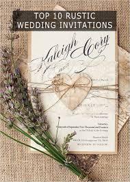 rustic wedding invitation cards