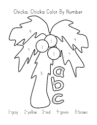chicka chicka boom boom coloring pages chuckbutt com