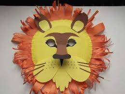 lion mask craft a home made paper plate lion mask with features like the real animal