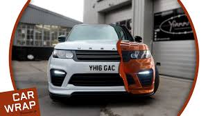 orange range rover svr urban automotive range rover svr wrapped liquid copper youtube
