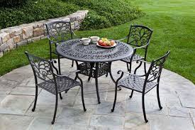 Black Wrought Iron Patio Furniture Sets Wrought Iron Patio Set Table Chair Furniture For Garden Amepac