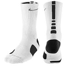 nike elite socks white black monticello sports