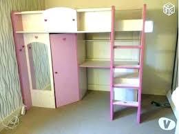 lit mezzanine avec bureau intégré lit mezzanine armoire bureau zenty co