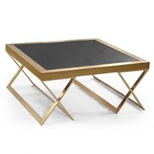 Black Modern Coffee Table Living Room Furniture Black And Gold Centre Table Luxury Round