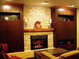 decorations cool dark brown varnished wood mantel decorating