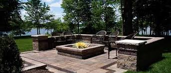 Paver Patio Designs With Fire Pit Patio Pavers Traditions Landscape Group