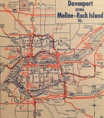 Moline Illinois Map by You Might Get Lost Using This 1960s Road Map Today Wqad Com