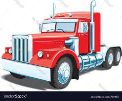 semi truck red semi truck royalty free vector image vectorstock